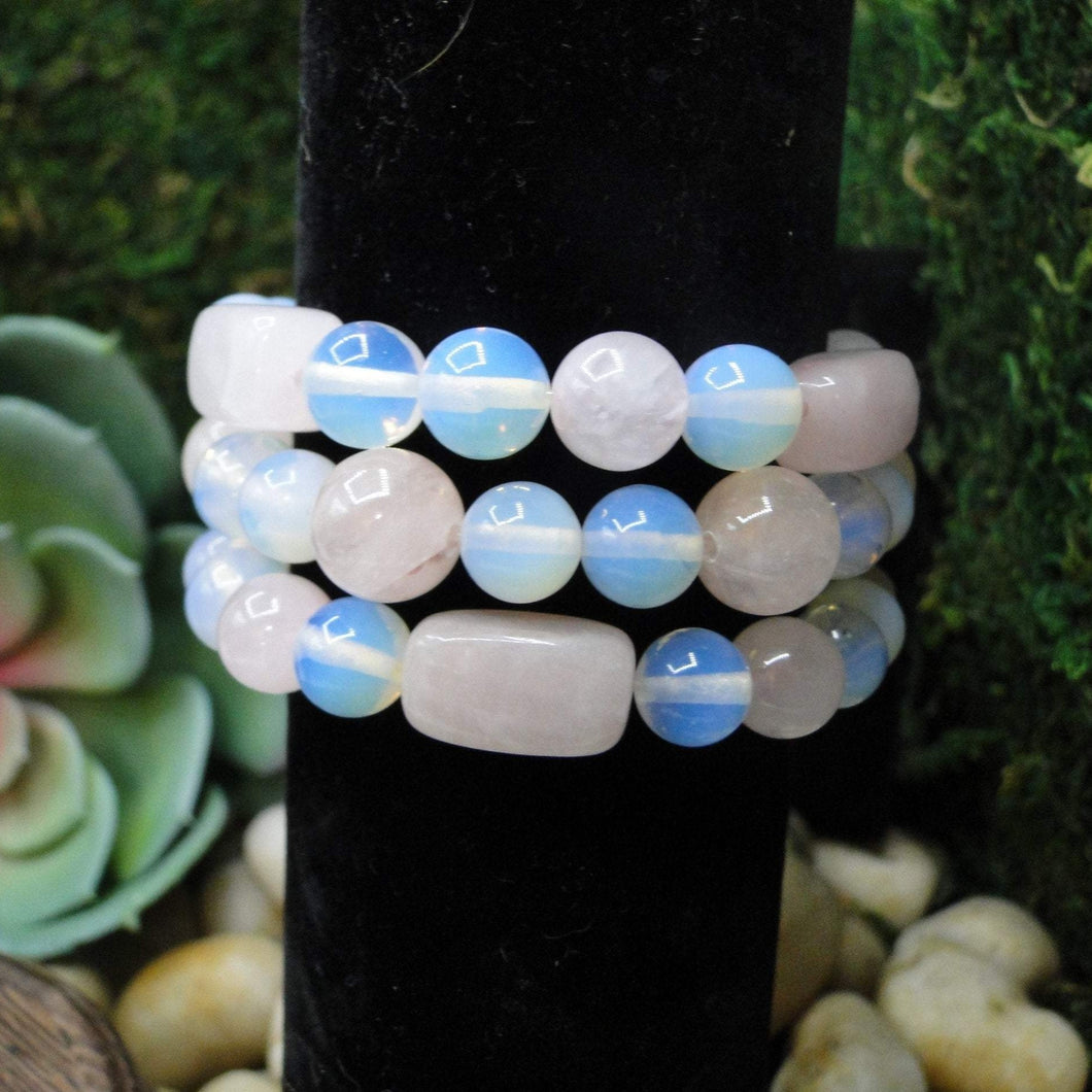 Rose Quartz and Opalite Bracelet Super Fun & Soothing