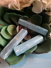 Load image into Gallery viewer, Blue Selenite - 5 inch Raw Sticks