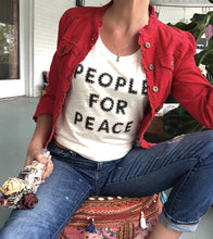 Load image into Gallery viewer, People for Peace Tshirt