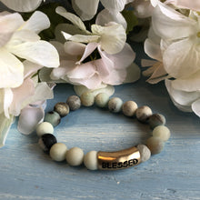 Load image into Gallery viewer, Amazonite 14k Gold Vermeil Blessed Bracelet