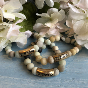 Amazonite 14k Gold Vermeil Blessed Bracelet