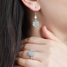 Load image into Gallery viewer, Delicate Amazonite Crystal Ring with Matching Earrings