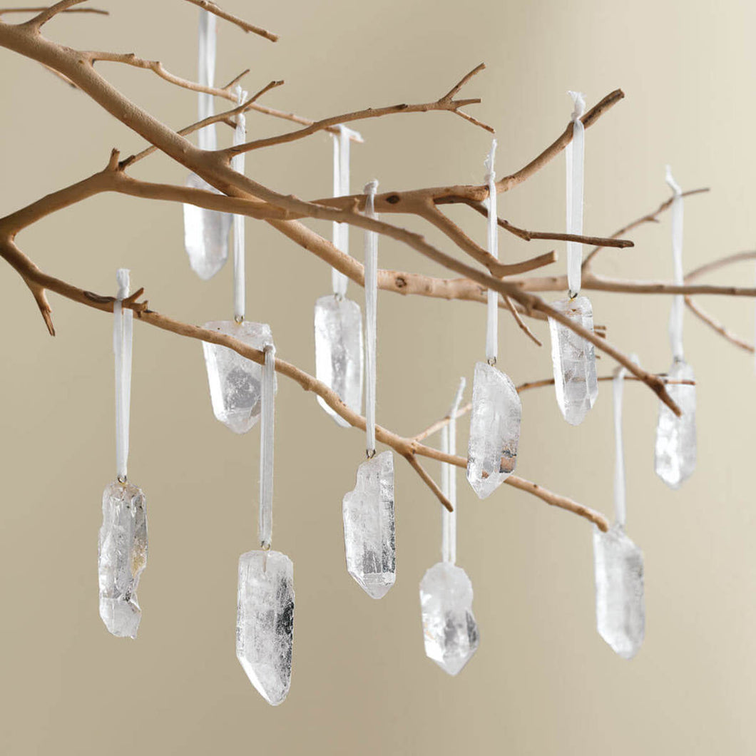 Clear Quartz Crystal Tree Ornament