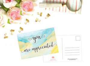 Appreciation Postcard Pack (3 pack)