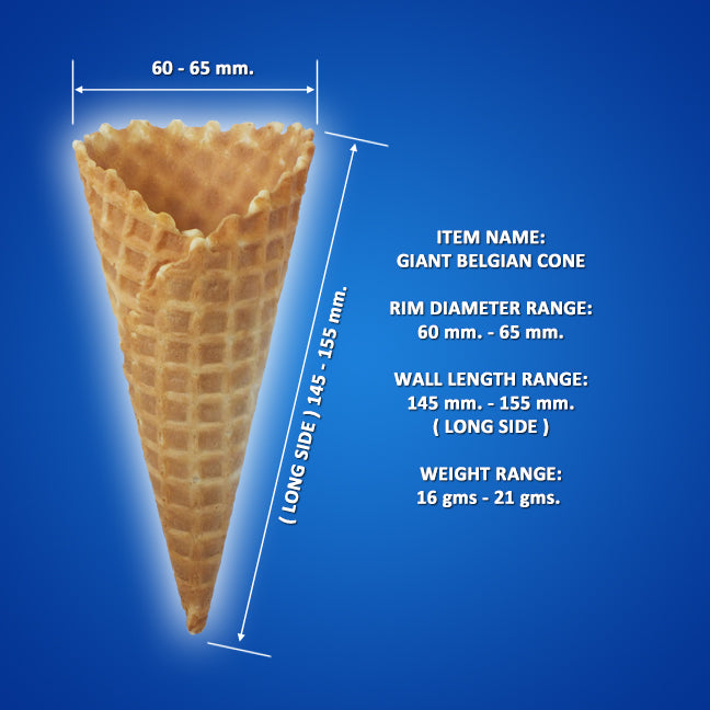 Giant Sugar Cone (Red, Black)