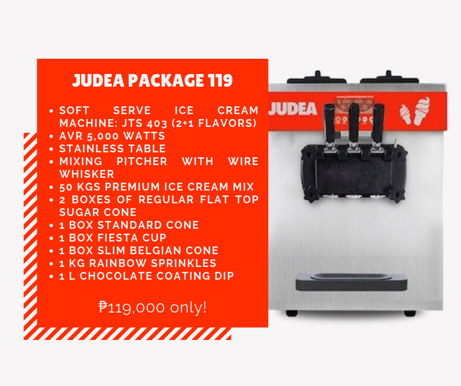 Judea Package 119 - Soft Ice Cream Business Package