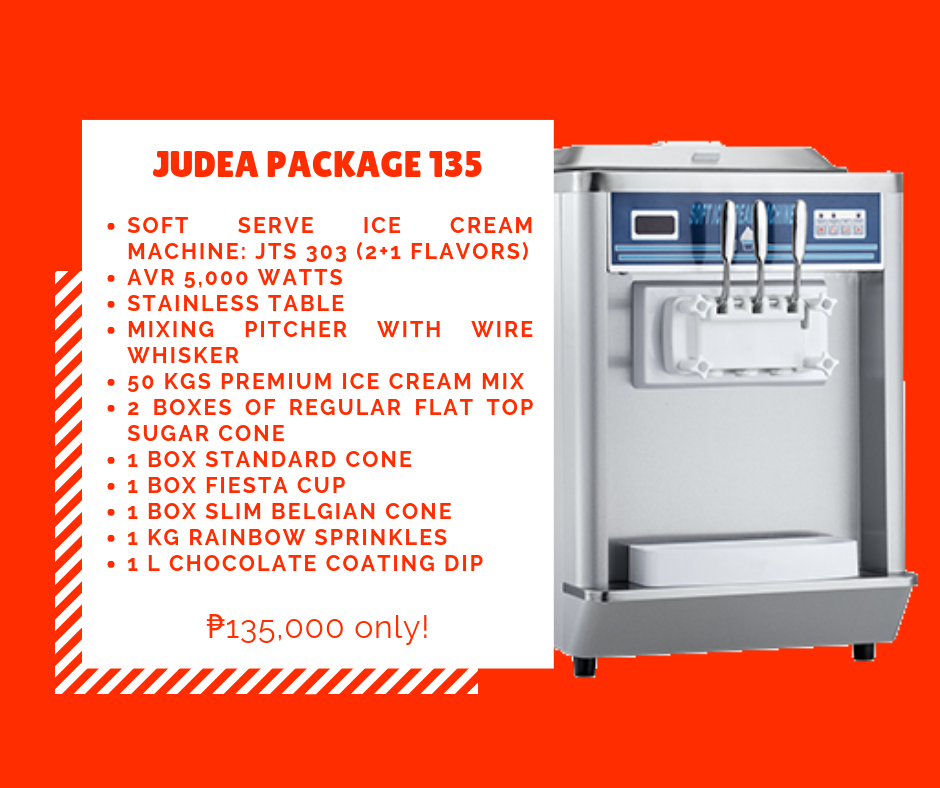 Judea Package 135 - Soft Ice Cream Business Package