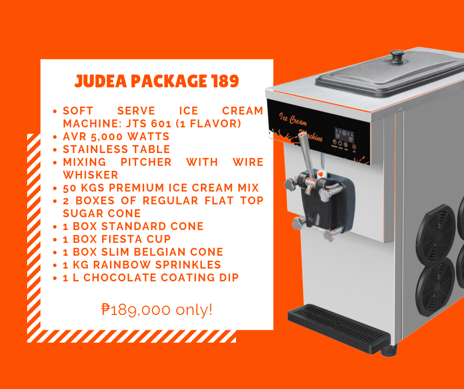 Judea Package 189 - Soft Ice Cream Business Package