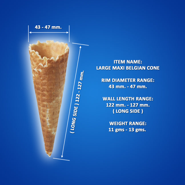Big Time Slim Belgian Cone, 2 Tone