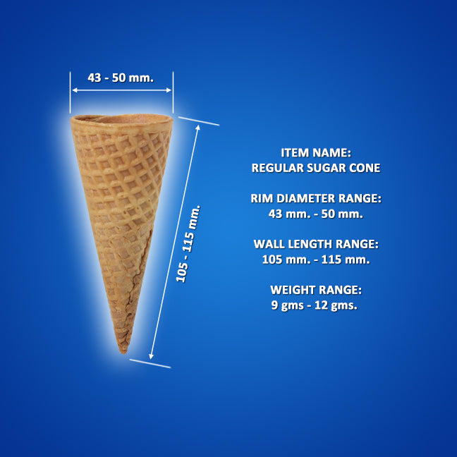 Regular Flat Top Sugar Cone, Plain