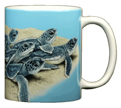 Mug, Ceramic, Single, Sea Turtle Hatchlings