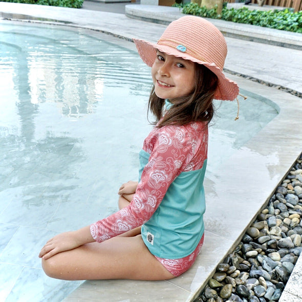 Girl Rash Guard Kemuning Peach