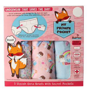 Girl's Undies (3 Pack) Cute Candy