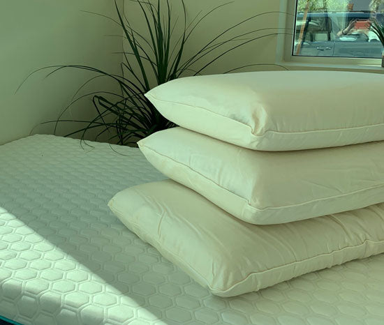 100% natural dunlop solid latex pillows oekotex and gots