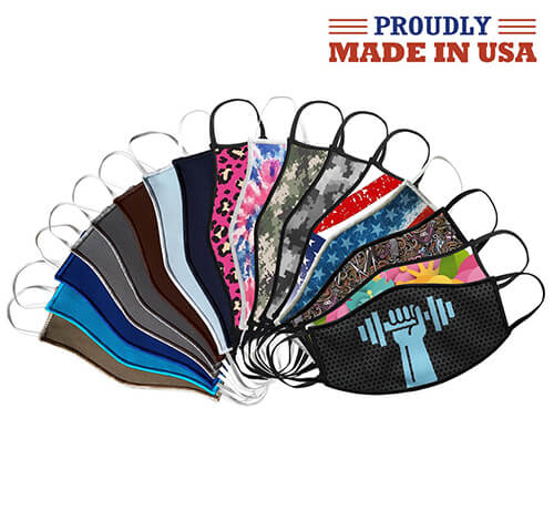 Copper Silver Antimicrobial USA Made Masks - Many Colors And Patterns