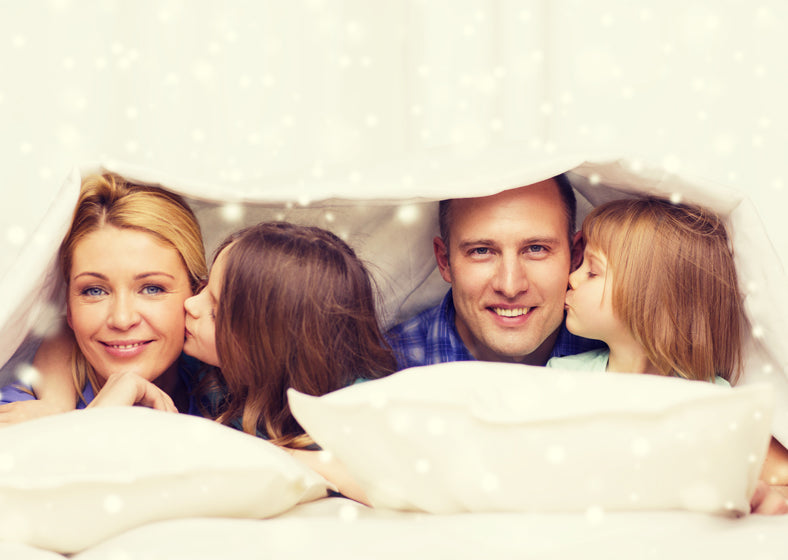 Use organic sheet sets and stay happy and comfy like this family
