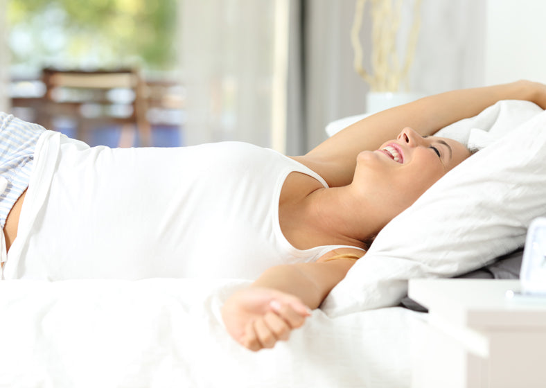 Latex versus memory foam can make a big difference- wake up happier like this woman.