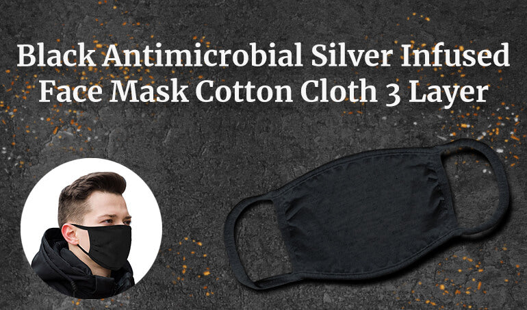 turmerry copper and silver face mask USA made anti-microbial cotton cloth 3 layer