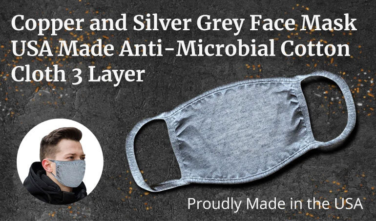 turmerry copper and silver face mask USA made cotton cloth 3 layer