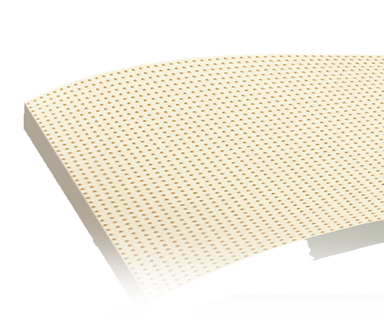 turmerry natural dunlop latex mattress topper Uniformly perforated surface