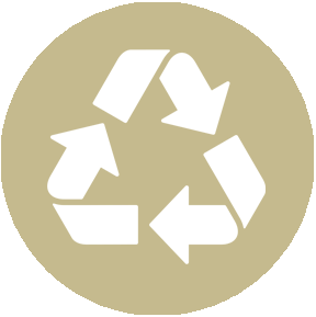 100% recyclable, sustainable, biodegradable, and durable