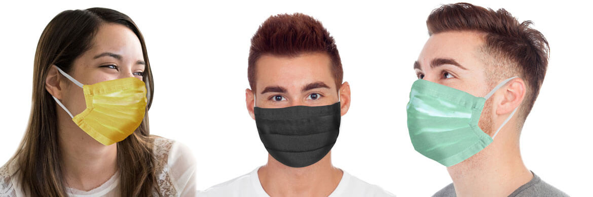 turmerry organic cotton accordion face masks pack of 4 colors