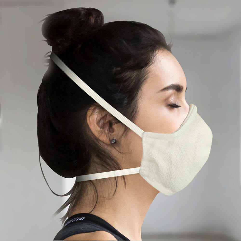 100% Organic Cotton Face Mask Made In USA with Filter and Nose Wire