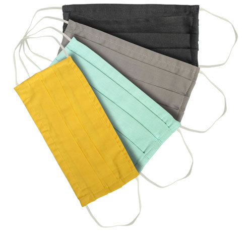 Organic Cotton Accordion 2 Layer Masks - Pack of 3