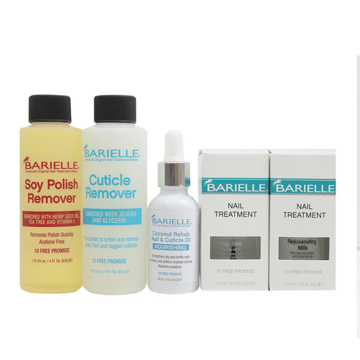 Barielle Gel & Acrylic Remover Kit - 5-Piece Deluxe Collection