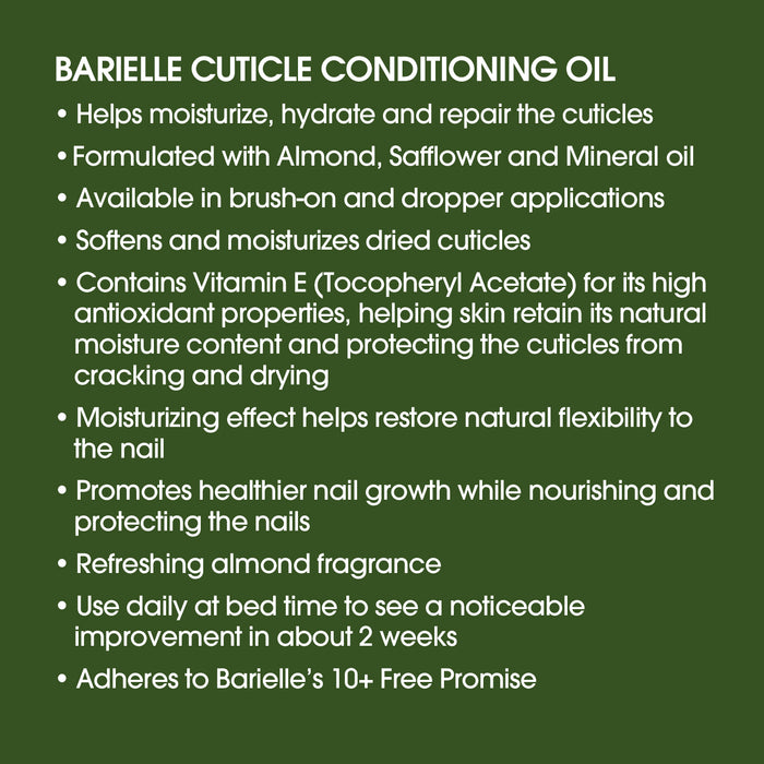 Barielle Cuticle Conditioning Oil w/Almond Oil .45 oz.