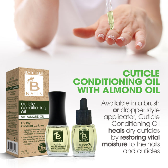 Barielle Cuticle Conditioning Oil - with Almond Oil, Vitamin E & Tea Tree Oil .45 oz.