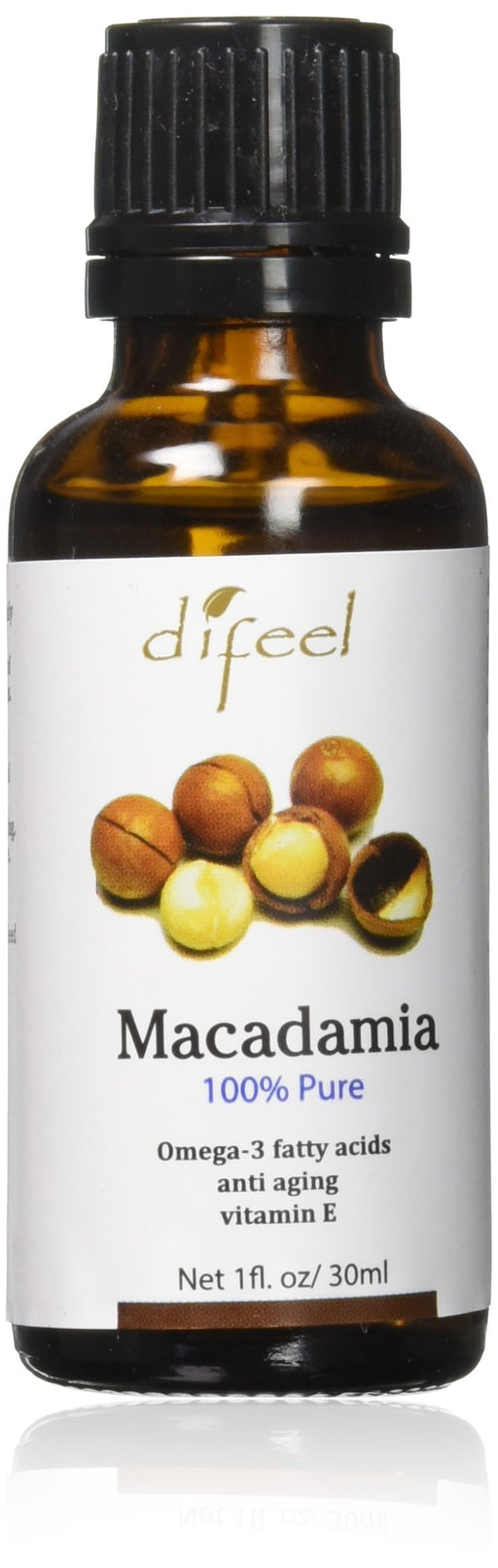 Difeel Essential Oil 100% Pure Macadamia Oil 1 oz.