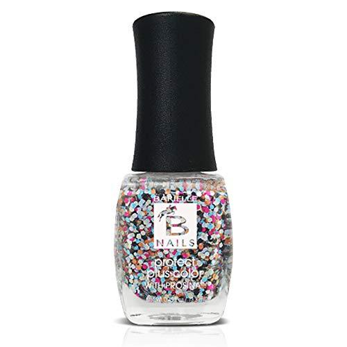 Protect+ Nail Color w/ Prosina - Confetti (A Multi-Color Glitter) - Barielle - America's Original Nail Treatment Brand