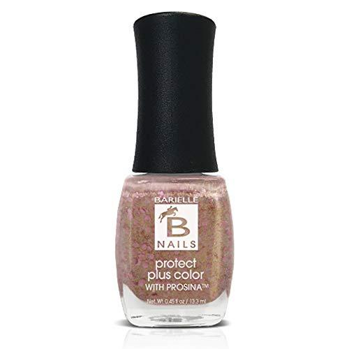 Protect+ Nail Color w/ Prosina - Golden Halo (A Gold With Pink Glitter) - Barielle - America's Original Nail Treatment Brand