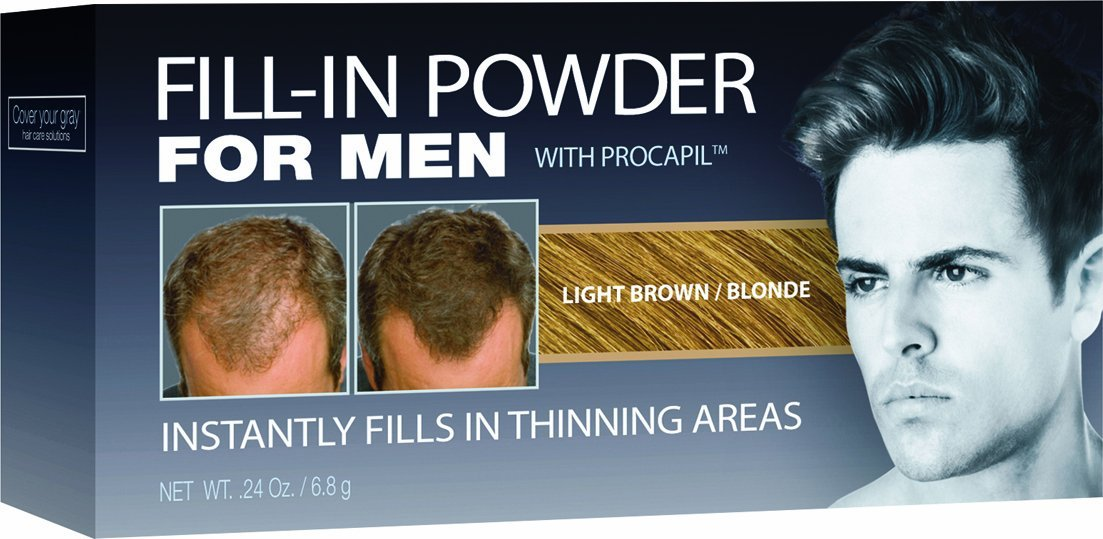 Cover Your Gray Fill-In Powder for Men - Light Brown .24 oz. (2-PACK)