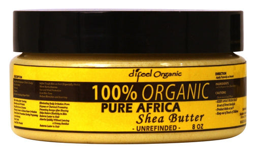 Difeel 100 Percent Organic Shea Butter - Unrefined 8 oz.