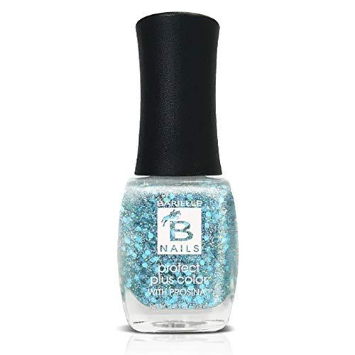 Protect+ Nail Color w/ Prosina - Mermaid's Fin (An Aqua Iridescent Glitter) - Barielle - America's Original Nail Treatment Brand
