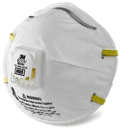 3M Comfort Plus N95 Particulate Respirator with Valve 8210V 20-Count