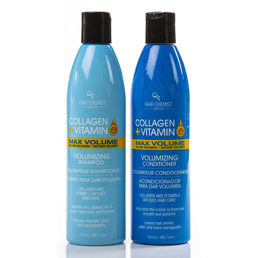 Hair Chemist Collagen and Vitamin E Max Combo Volume Shampoo 10 oz. and Conditioner 10 oz.