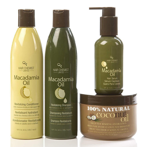 Hair Chemist Macadamia Oil Hair Care 4 Piece Set