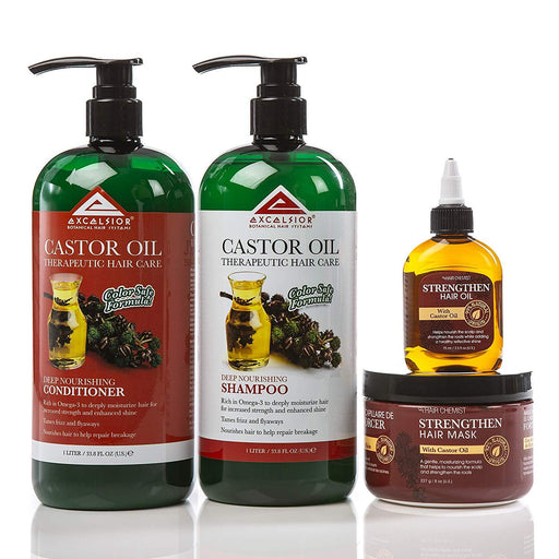 Hair Chemist Castor Oil Deep Nourishing Hair Care 4 Piece Set
