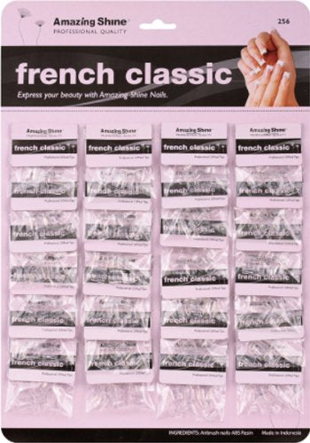 Amazing Shine Card Board Nail Tips - Classic Clear 24-Count