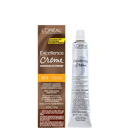Loreal Excellence Creme Extreme Browns #Br - 3 Med Red Brown
