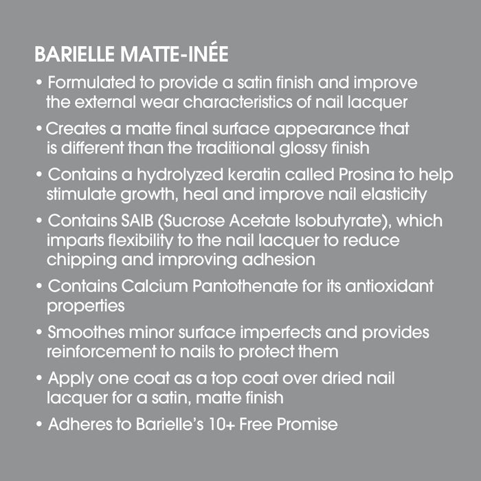 Barielle Matte Inee Nail Protection .5 oz.