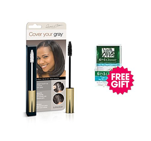Cover Your Gray Brush In Wand - Jet Black w/ FREE Coconut Hair Cleanser