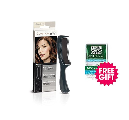 Cover Your Gray Color Comb - Black w/ FREE Coconut Hair Cleanser Packette