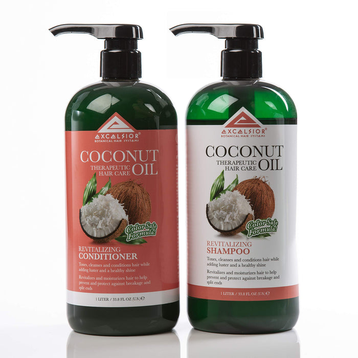 Excelsior Coconut Oil Revitalizing Hair Care 2PC Set- Shampoo+Conditioner 33.8oz