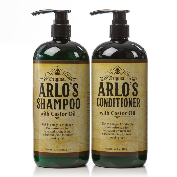 Arlos Complete Hair Care Castor Oil 2PC SET Shampoo+Conditioner 33.8 oz. EA