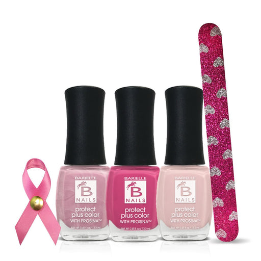 Barielle Breast Cancer Awareness Bundle + Free Nail File