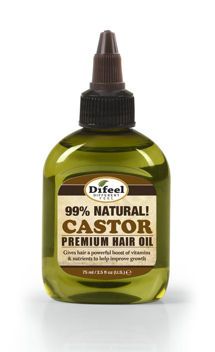 Difeel Premium Natural Hair Oil - Castor Hair Oil 2.5 oz.
